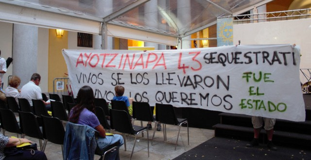 Azione per Ayotzinapa a Lugano