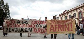 Foto della mobilitazione per Afrin a San Cristobal de las Casas