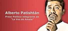 Audio dell'azione per esigere la libertà di Alberto Patishtàn