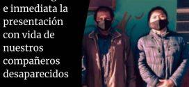 DENUNCIAMOS LA PRIVACIÓN ILEGAL DE LIBERTAD DE NUESTROS COMPAÑEROS LÁZARO SÁNCHEZ GUTIÉRREZ Y VICTÓRICO GÁLVEZ PÉREZ, DEFENSORES DEL CENTRO DE DERECHOS HUMANOS FRAY BARTOLOMÉ DE LAS CASAS